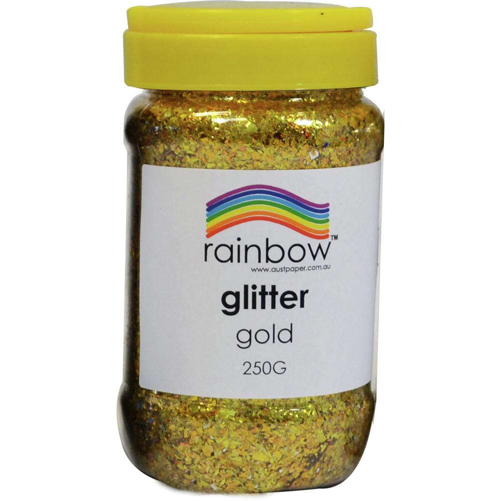 Rainbow Glitter Jar 250G Gold