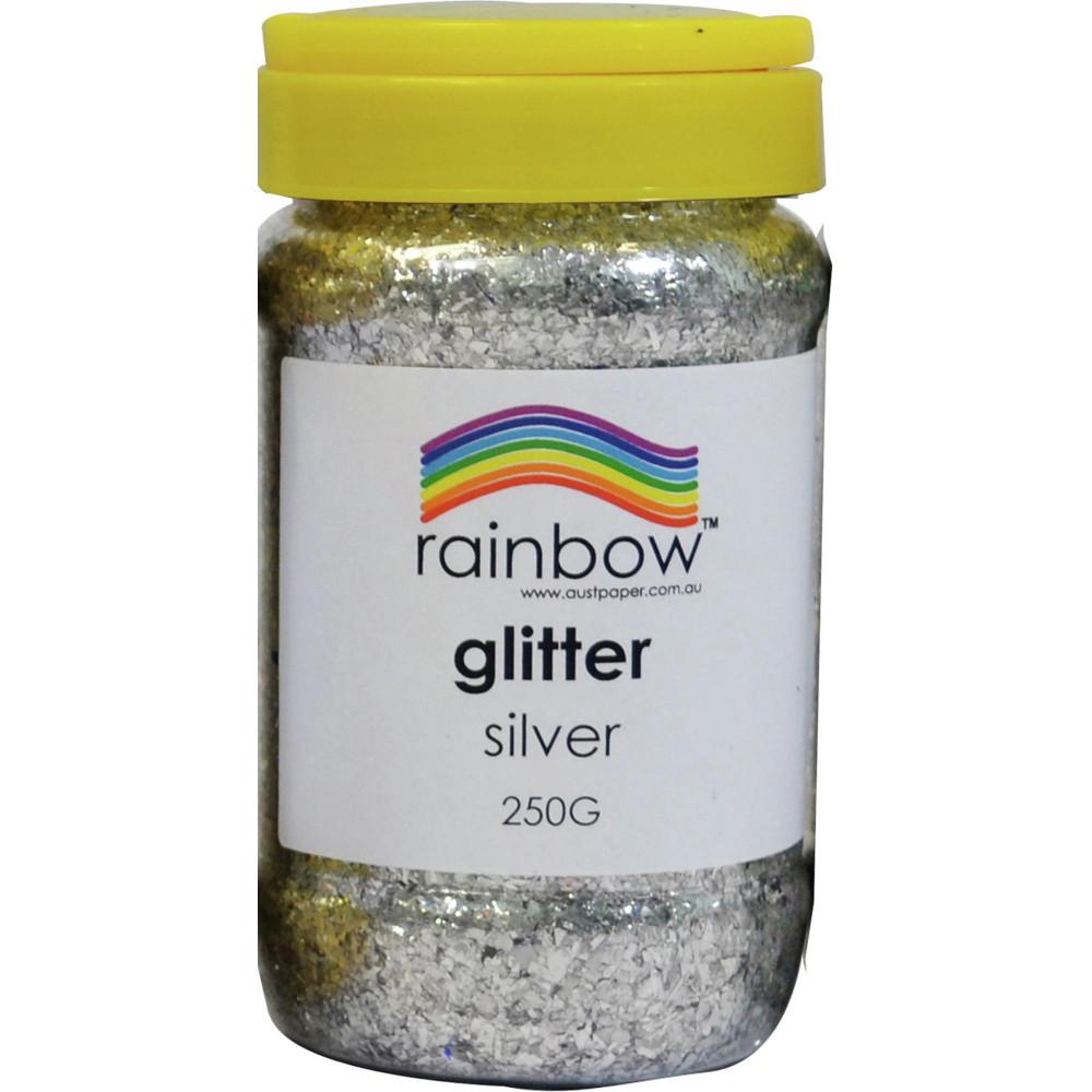 Rainbow Glitter Jar 250G Silver