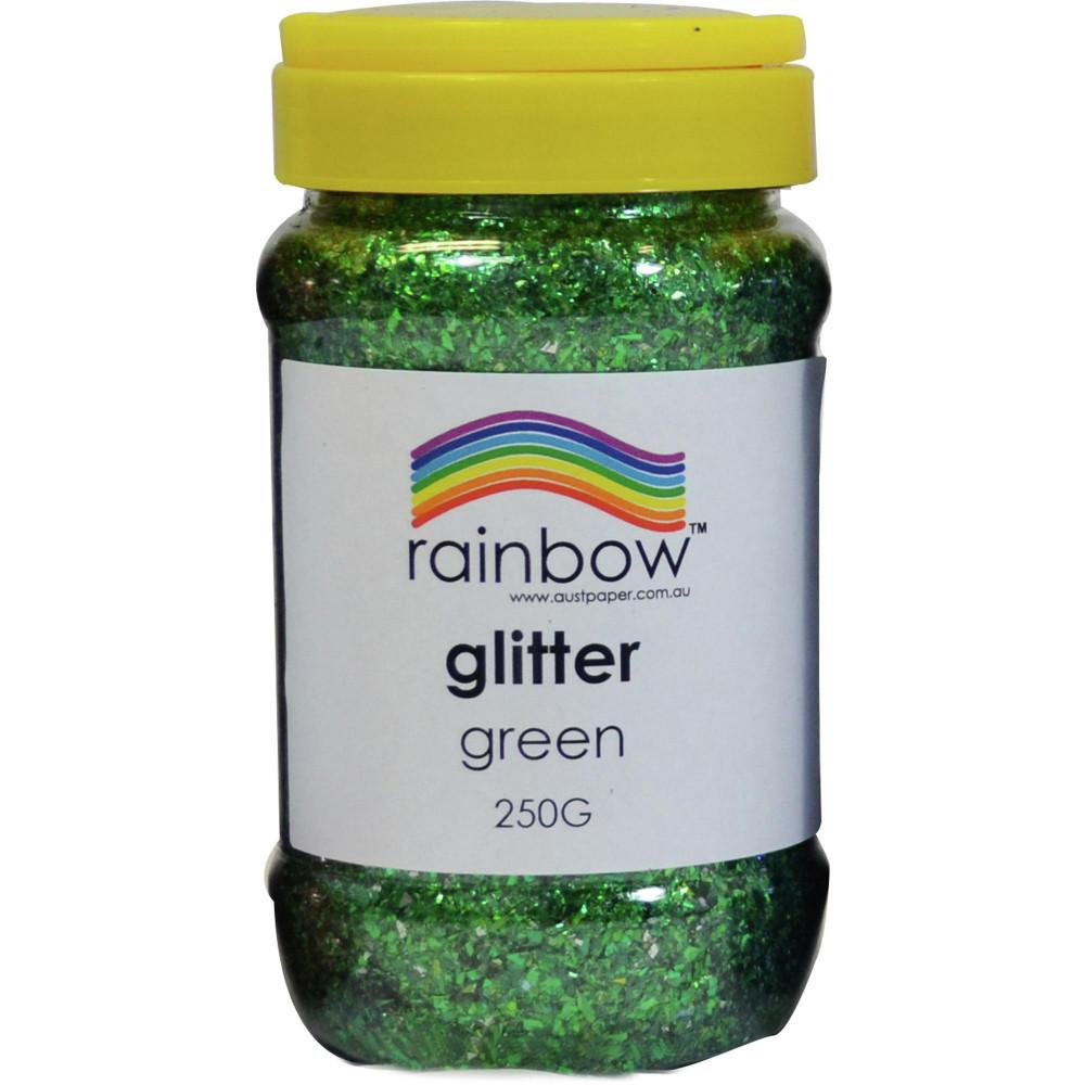Rainbow Glitter Jar 250G Green