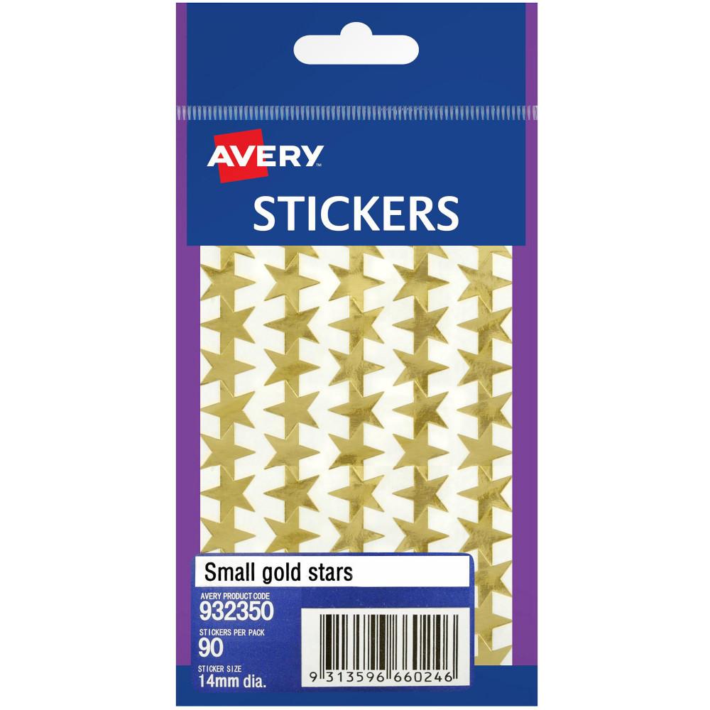 AVERY STICKER HANDIPACKS Small Gold Stars B Pack