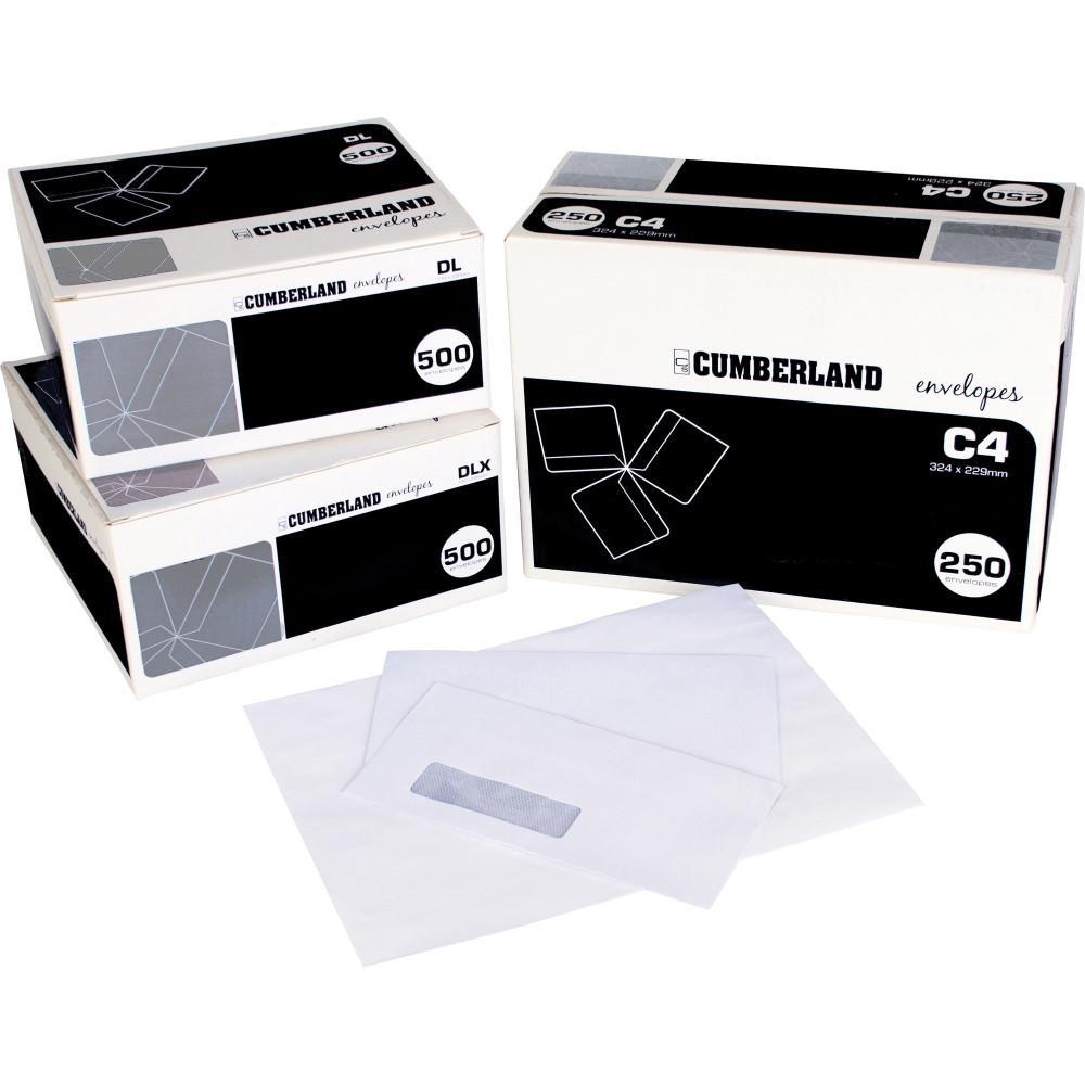 CUMBERLAND PLAIN ENVELOPE DL 110x220 StripSeal 90g Laser Box of 500