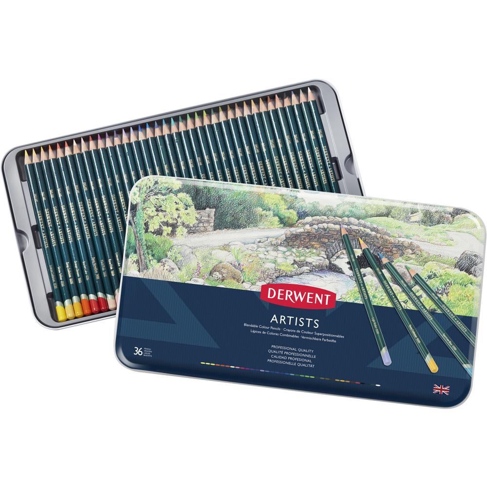 Derwent R32085 Artist 36 Pencils Assorted Tin Pack Of 36