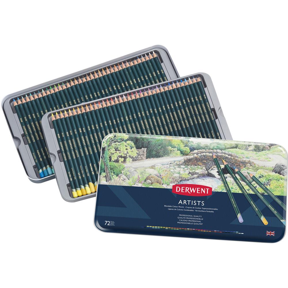 Derwent R32087 Artist 72 Pencils Assorted Tin Pack Of 72
