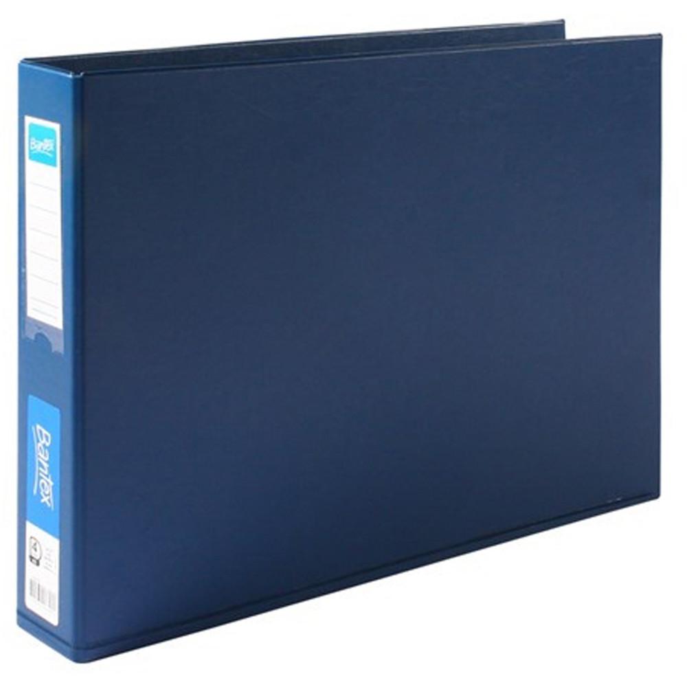 Bantex Binder A3 4D Ring 38mm PVC Landscape Blue