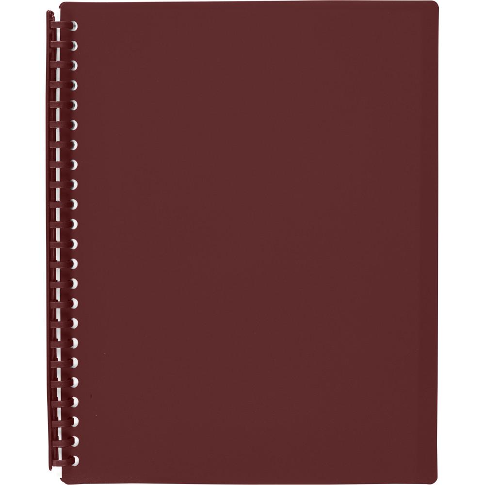 MARBIG REFILLABLE DISPLAY BOOK A4 20 Pocket Maroon