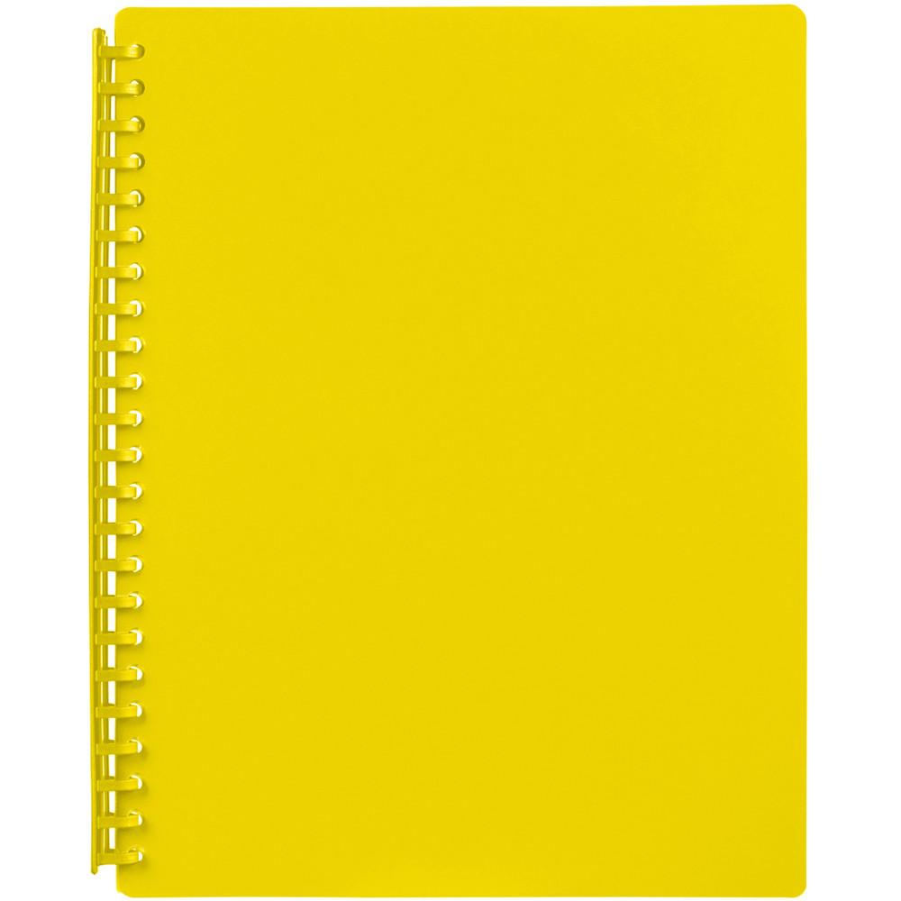 MARBIG REFILLABLE DISPLAY BOOK A4 20 Pocket Yellow