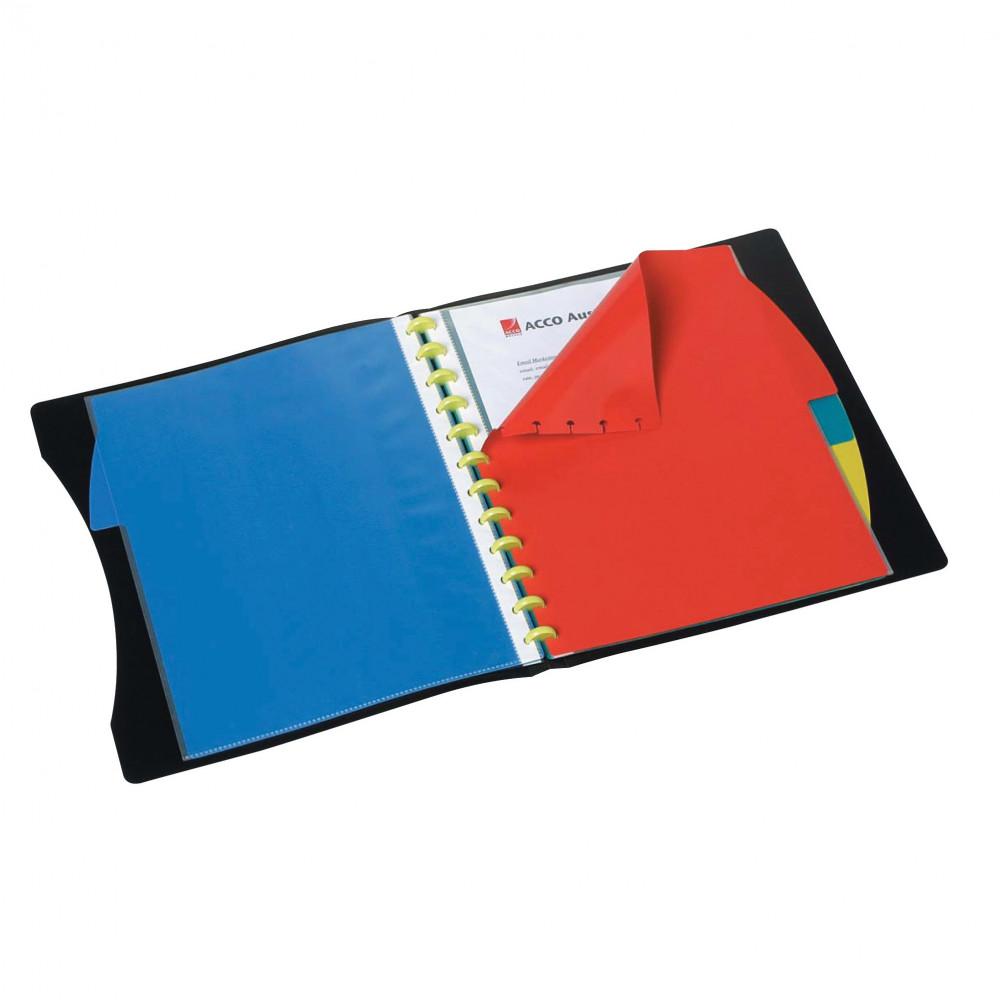 MARBIG KWIK ZIP DISPLAY BOOK A4 Dividers 20 Pocket Black