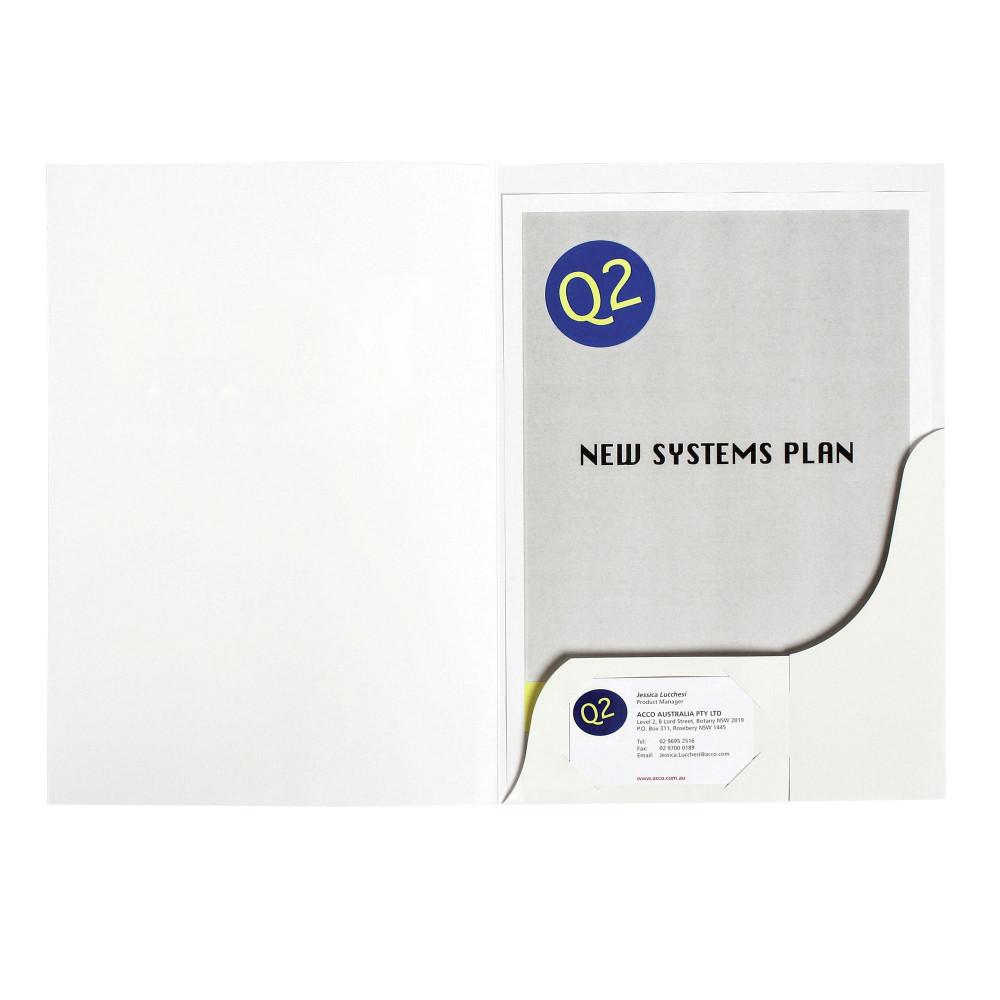 MARBIG PRESENTATION FOLDERS Pro Series A4 Matt White Box of 50