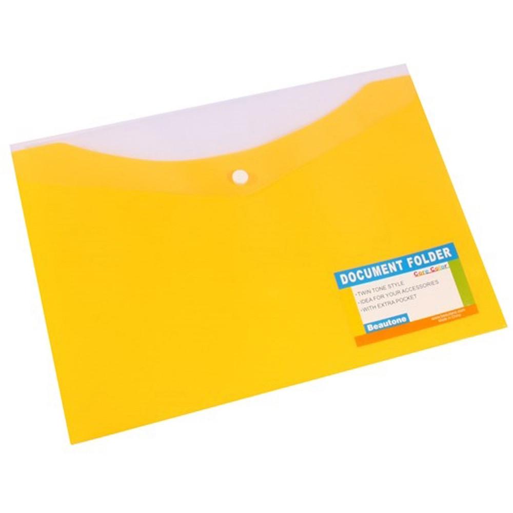 Bantex Document Folder A4 With Button Closure Tropical Banana