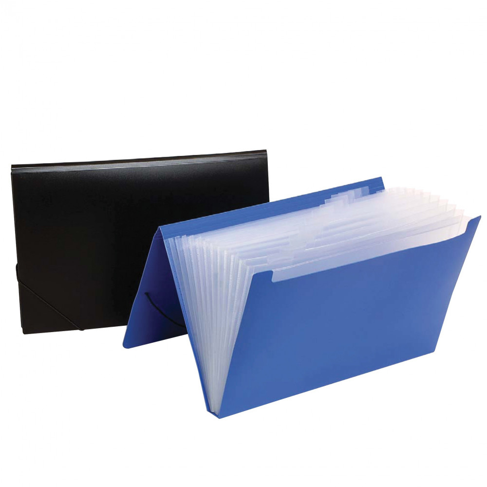 MARBIG EXPANDING FILE F/C PP 12 Pocket Assorted