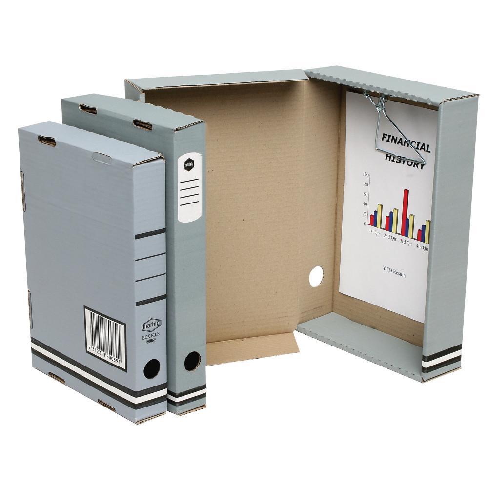 MARBIG BOX FILES Enviro A4 80mm Kraft