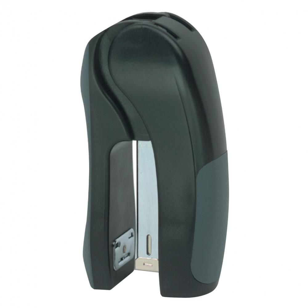 Marbig Stapler Plastic Stand Up Half Strip 25 Sheet Capacity Black