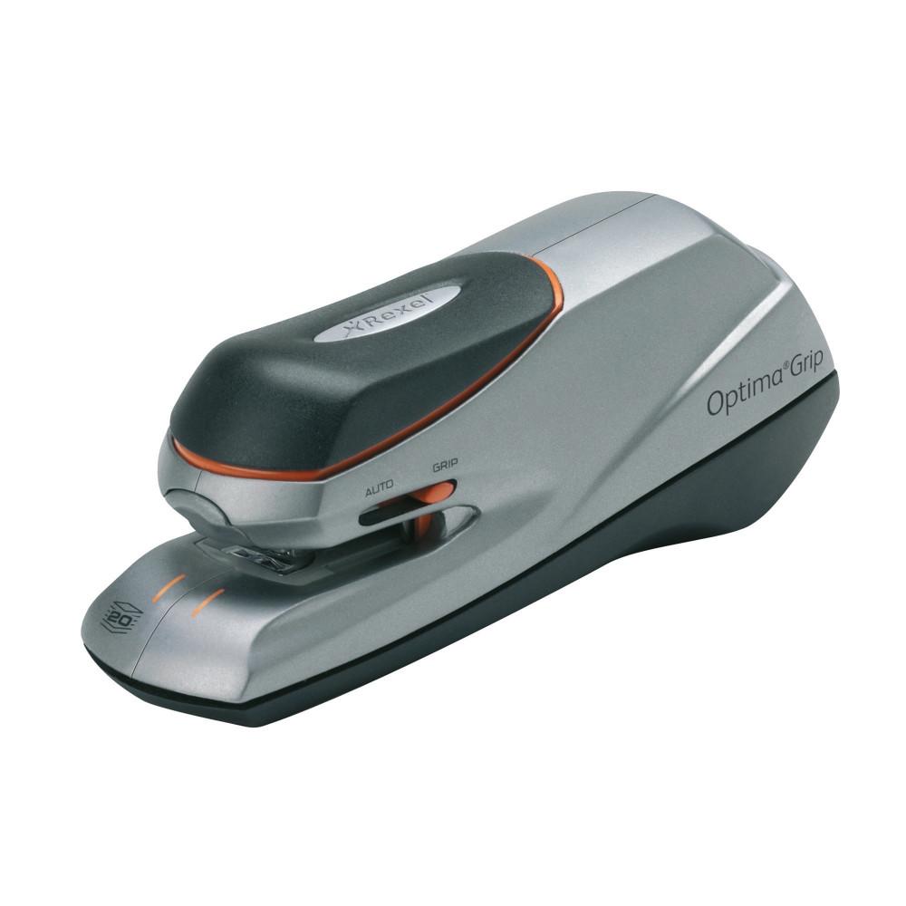 Rexel Stapler Optima Grip Electric 20 Sheet Capacity Black & Silver