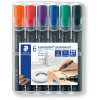 Staedtler 352 Lumocolor Permanent Marker Bullet 2mm Assorted Wallet of 6