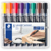 Staedtler 352 Lumocolor Permanent Marker Bullet 2mm Assorted Wallet of 8