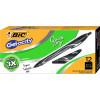 Bic Gelocity Gel Pen Retractable Medium 0.7mm Black Pack of 12