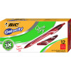 Bic Gelocity Gel Pen Retractable Medium 0.7mm Red Pack of 12