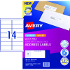 Avery Quick Peel Address Laser & Inkjet Label L7651 99.1x38.1 White 140 Labels, 10 Sheets