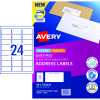 Avery Quick Peel Address Laser & Inkjet Labels L7159 64x33.8 White 240 Labels, 10 Sheets