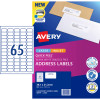 Avery Quick Peel Address Laser & Inkjet Labels L7163 38.1x 21.2mm White Pack of 10 (6500)