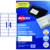 Avery Weatherproof Shipping Laser Labels L7073 99.1x38.1mm White 140 Labels, 10 Sheets