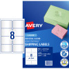Avery Crystal Clear Laser Address Label 8UP 99.1x67.7mm 200 Labels 25 Sheets
