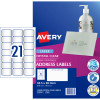 Avery Crystal Clear Laser Address Label 21UP 63.5x38.1mm 525 Labels 25 Sheets