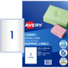 Avery Crystal Clear Laser Address Label 1UP 199.6x289.1m 25 Labels 25 Sheets