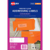 Avery Inkjet Frosted Clear Label 16UP 99.1x34mm 400 Labels, 25 Sheets