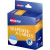 Avery Dispenser Label 24mm 1/2 Blue Dot Pack of 300