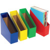 Marbig Book Boxes Large 17wx25dx27h cm Blue Pack Of 5