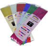 Rainbow Foil Crepe 500mmx1m Assorted Pack of 6