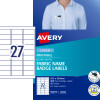 Avery L4784 Fabric Name Labels 27 Sht 63 5x29 6 Acetate Silk