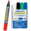 ARTLINE 579 WHITEBOARD MARKER Drysafe Med Chisel Asstd Wlt4