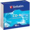 Verbatim Recordable CD-R 80Min 700MB 52X Slim Case Pack of 10