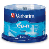 Verbatim Recordable CD-R 80Min 700MB 52X Spindle Pack of 50