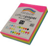 RAINBOW 80GSM OFFICE PAPER A4 4x Fluro Assorted Colours Ream of 500