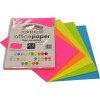 RAINBOW OFFICE PAPER A4 75GSM Fluro Assorted Pack of 100