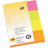 Marbig Colour Page Markers 20x50mm Brilliant Assorted Pack of 4 Pads