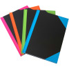 Cumberland Notebook A5 Ruled 192 Page Black With Bright Trim Assorted