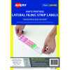 Avery L7174 Lateral Filing Labels A4 42x200mm 4 Per Sheet White Box of 400