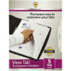Marbig Professional Series A4 5 View Tab Dividers Transparent Clear