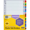 Marbig Plastic Divider A4 Reinforced A-Z Tab Multi Colour