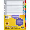 Marbig Plastic Divider A4 Reinforced Jan-Dec Tab Multi Colour