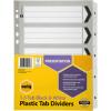 Marbig Plastic Divider A4 Reinforced 1-5 Tab Black