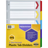 MARBIG COLOURED DIVIDERS A3 1-5Tab Board Portrait Asst Includes 5 Tabs