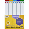 MARBIG COLOURED DIVIDERS A3 1-5Tab Board L/Scape Asst Includes 5 Tabs