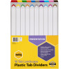 MARBIG COLOURED DIVIDERS A3 1-10Tab Board L/Scape Asst Includes 10 Tabs