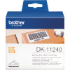 Brother DK-11240 Label Rolls 102x51mm Label Roll Black on White Suits QL-Series Box 600