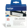 Brother DK-22205 Label Rolls 62mmx30.48m Black on White Adhesive Paper